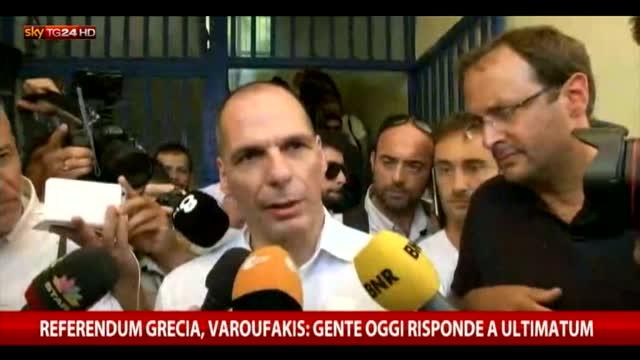"Varoufakis: ""Gente oggi risponde a ultimatum"""