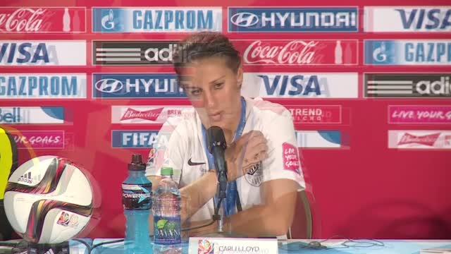 Mondiali calcio donne agli Usa: la gioia di Carli Lloyd