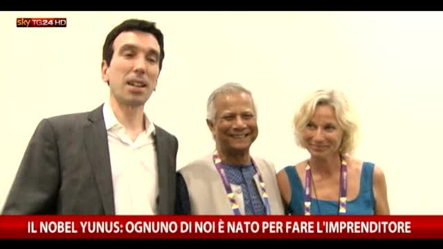 Il Nobel Yunus: ognuno di noi è nato per fare l'imprenditore