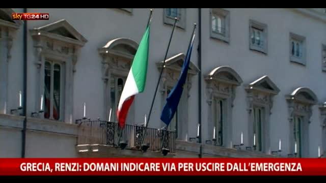 Grecia, Renzi: soluzione subito, Ue punti su crescita