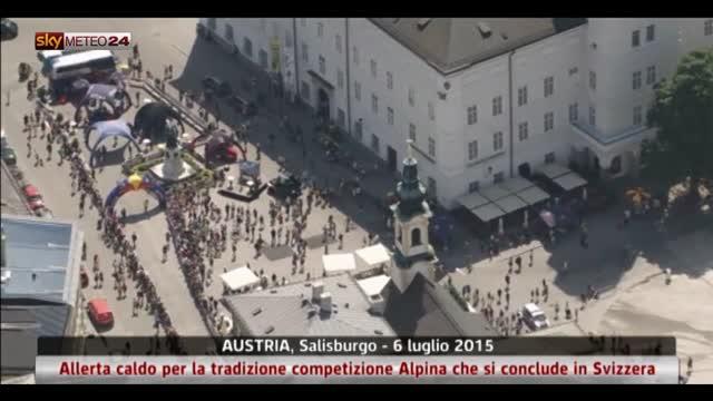 Allerta caldo sulle Alpi tra Austria e Svizzera