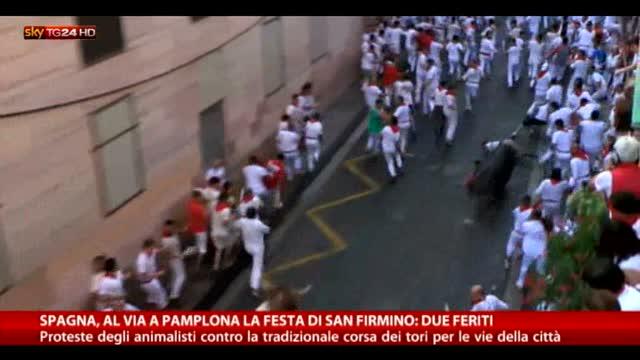 San Firmino, al via a Pamplona le corse dei tori