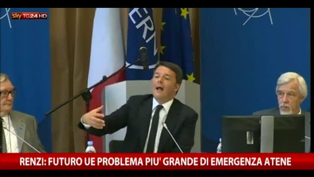 Renzi: futuro Ue problema più grande di emergenza Atene