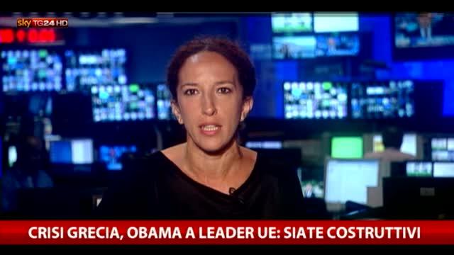 Crisi Grecia, Obama a leader Ue: siate costruttivi