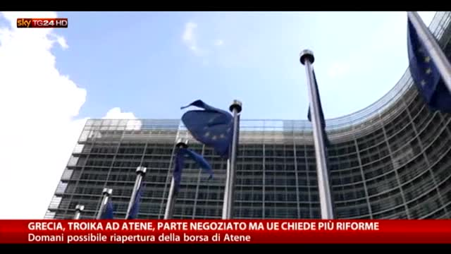 Grecia, parte negoziato. Ma Ue chiede più riforme