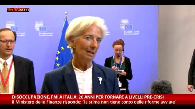Fmi: in Italia 20 anni per livello disoccupazione pre-crisi