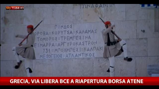 Grecia, la Borsa verso la riapertura