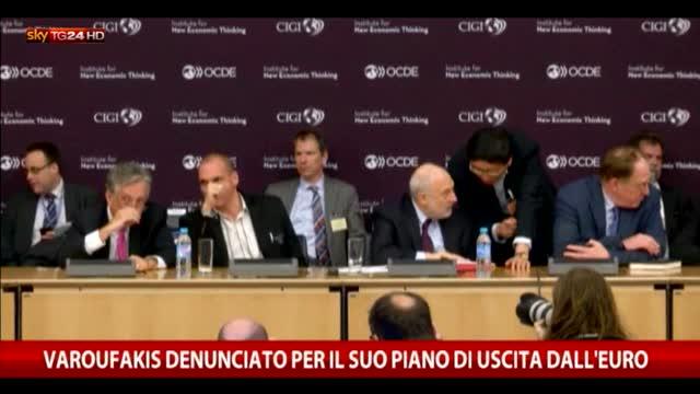 Varoufakis denunciato per il piano di uscita dall'euro