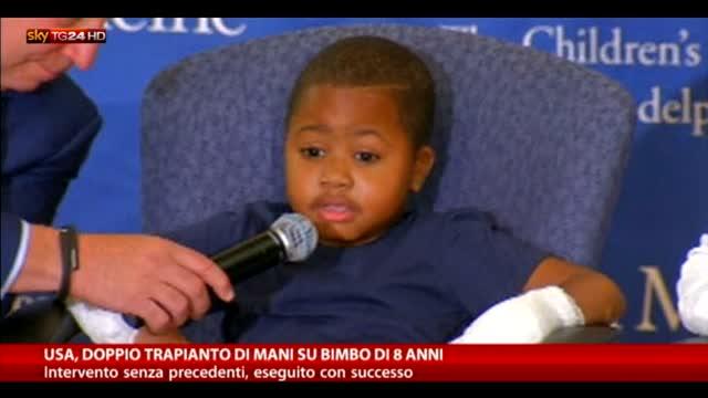 Usa, successo per primo trapianto di mani su bimbo di 8 anni
