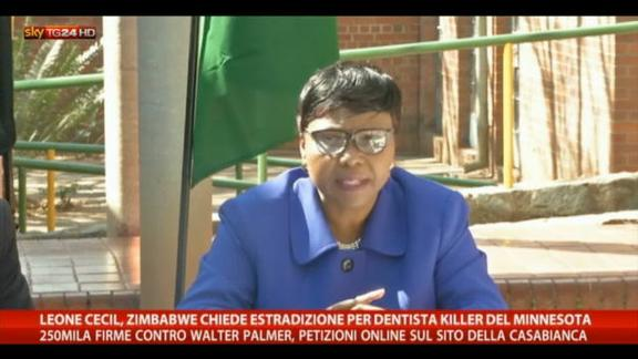 Leone Cecil, lo Zimbabwe chiede l'estradizione
