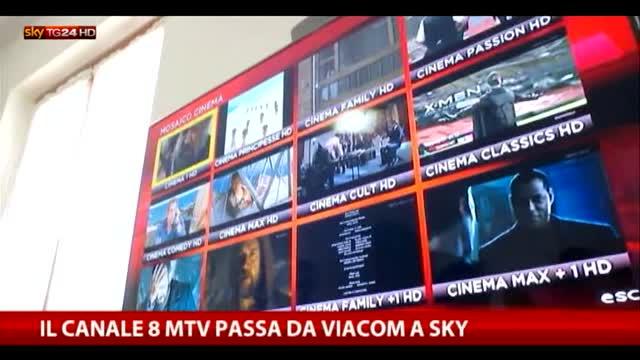 Il canale 8 Mtv passa da Viacom a Sky