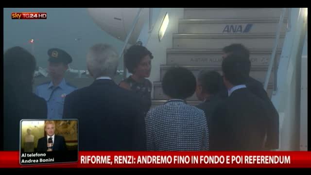 """Riforme, Renzi: """"Andremo fino in fondo e poi referendum"""""""