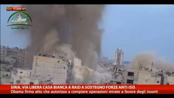 Siria, Obama autorizza raid aerei in difesa opposizione