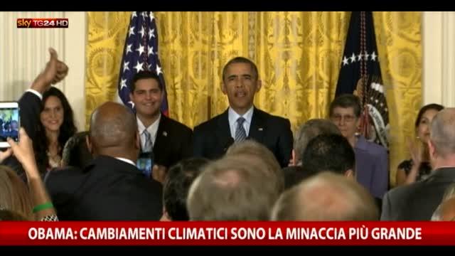 """Clima, Obama: """"Non abbiamo piano B, bisogna fare presto"""""""