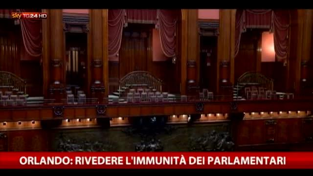 Orlando: sull'arresto di parlamentari decida la Consulta