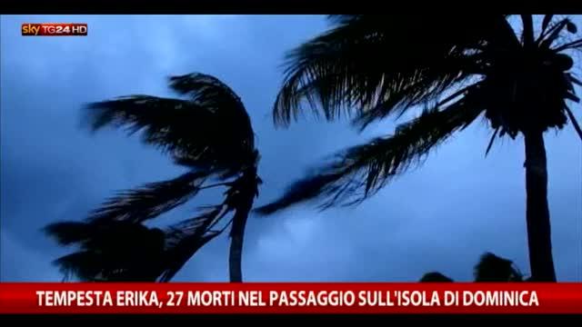 Tempesta Erika verso la Florida, 27 morti a Dominica