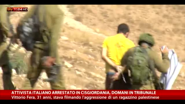 Cisgiordania, arrestato attivista italiano