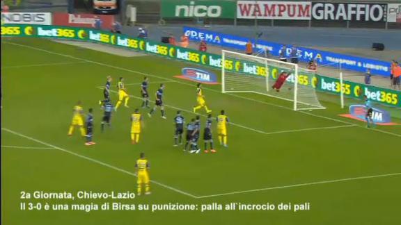 Top gol: Pjanic pennellata d'autore. Birsa, che punizione!
