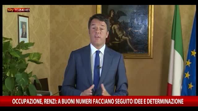 Occupazione e Pil, Renzi: le riforme servono