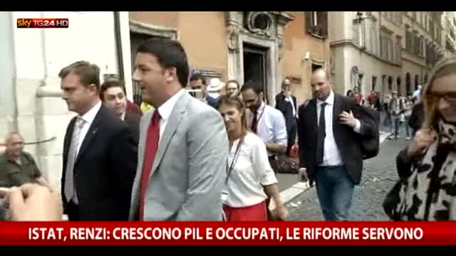Istat, Renzi: riforme servono. Gelo di Squinzi