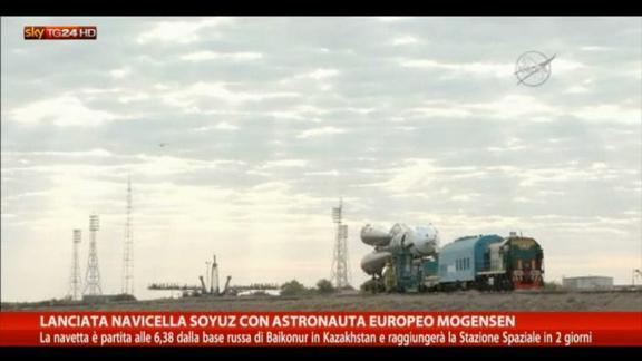 Lanciata navicella Soyuz con astronauta europeo Mogensen