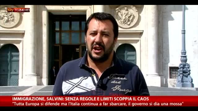 Immigrazione, Salvini: senza regole e limiti scoppia il caos
