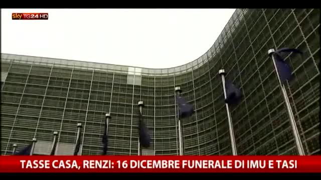 Renzi: Europa non decide su tasse