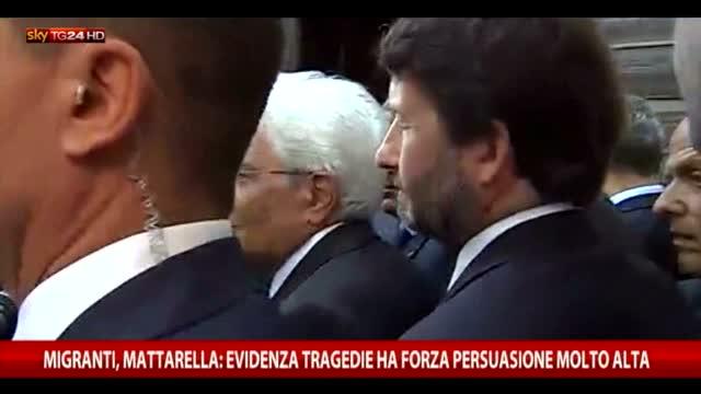 Migranti, Mattarella: evidenza ha forza di persuasione alta