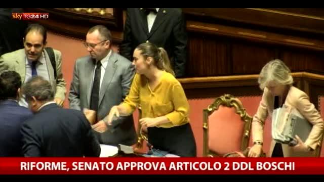 Riforme, Senato approva articolo 2 Boschi