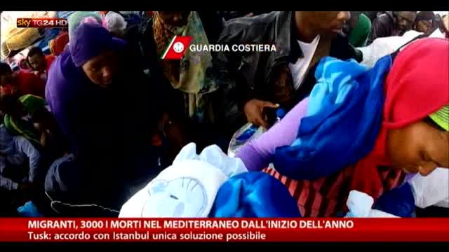 Migranti, 3mila i morti nel Mediterraneo nel 2015