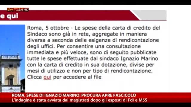 Roma, spese sindaco Marino: procura apre fascicolo