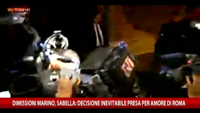 Marino, Sabella: decisione inevitabile presa per bene Roma