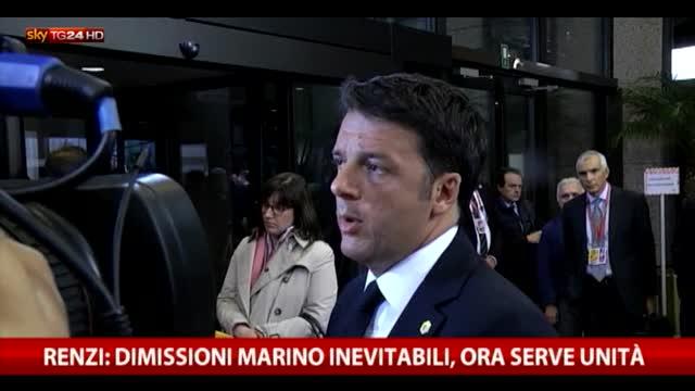 Renzi: dimissioni Marino inevitabili