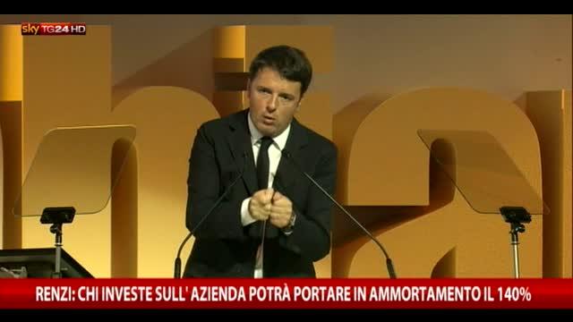 Renzi: sconto fiscale a chi investe nella propria azienda