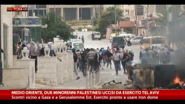 MO, uccisi 2 minorenni vicino Gaza. Scontri a Gerusalemme