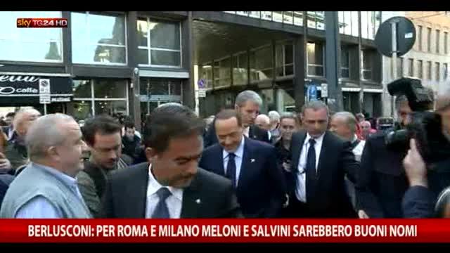 Berlusconi: Roma e Milano? Meloni e Salvini buone soluzioni
