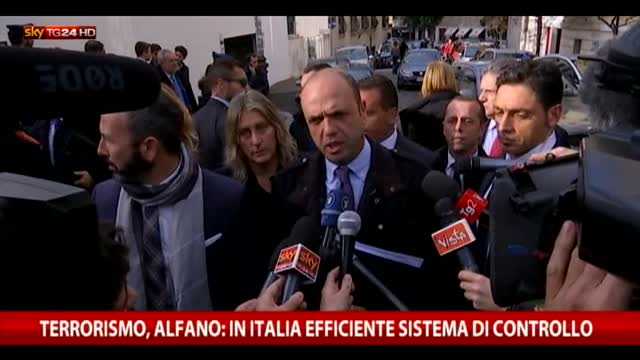 Terrorismo, Alfano: in Italia efficiente sistema controllo