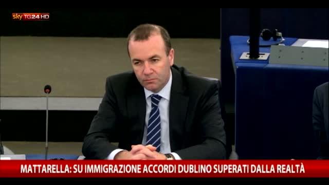 Migranti, Mattarella: Accordi Dublino superati dalla realtà