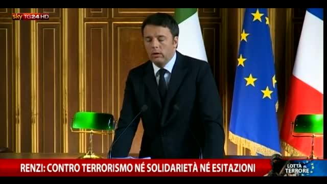 Renzi: contro terrorismo né solidarietà né esitazioni