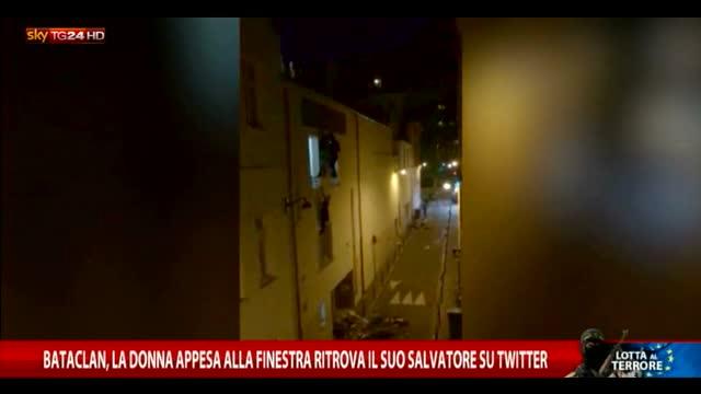 Bataclan, donna appesa a finestra trova salvatore su Twitter