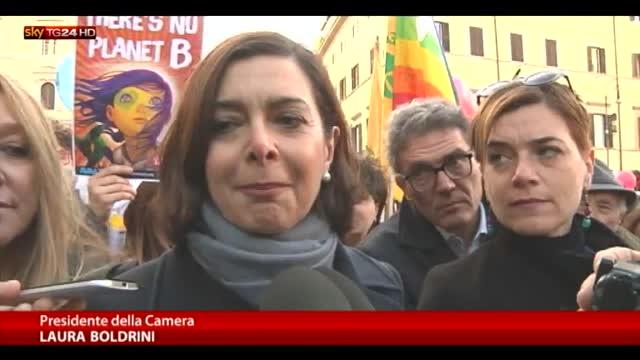 Clima, Boldrini: dobbiamo fare nostra la cultura del limite