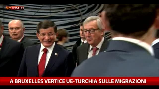 A Bruxelles vertice Ue-Turchia sull'emergenza migranti
