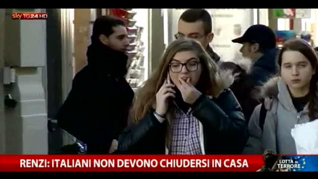 """Renzi: """"Gli italiani non si chiudano in casa"""""""
