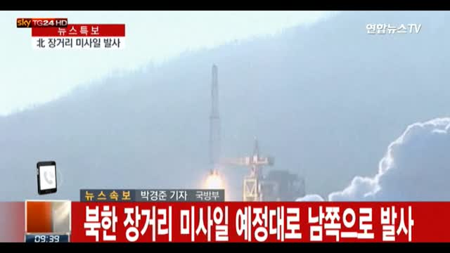 Nord Corea lancia razzo, unanime la condanna