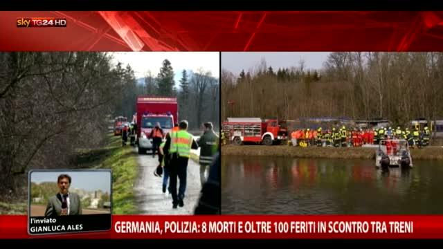 Germania, polizia  8 morti nello scontro tra treni