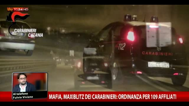 Mafia, maxiblitz dei carabnieri ordinanza per 109 affiliati