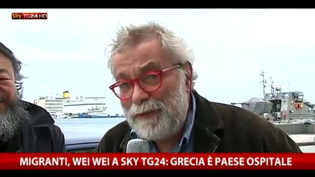 """Migranti, Ai Weiwei a Sky TG24: """"Grecia Paese ospitale"""""""