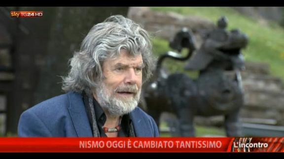 """L'incontro"" di Emilio Carelli: ospite Reinhold Messner"