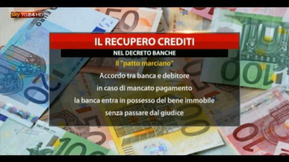 Banche, da oggi più facile il recupero crediti