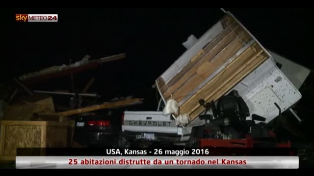 Tornado in Kansas, 25 abitazioni distrutte